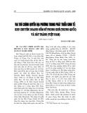 """Báo cáo nghiên cứu khoa học """" Vai trò chính quyền địa phương trong phát triển kinh tế khu chuyên doanh gốm sử Phong Kê ( Trung Quốc ) và Bát Tràng ( Việt Nam  )  """""""