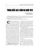 """Báo cáo nghiên cứu khoa học """" TRUNG QUỐC SAU 5 NĂM GIA NHẬP WTO """""""
