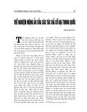 """Báo cáo nghiên cứu khoa học """" Thể nghiệm mộng ảo của các tác giả CỔ ĐẠI TRUNG QUỐC """""""