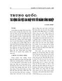 """Báo cáo nghiên cứu khoa học """" TRUNG QUỐC - TÁC ĐỘNG CỦA VIỆC GIA NHẬP WTO TỚI NGÀNH CÔNG NGHIỆP """""""
