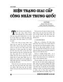 """Báo cáo nghiên cứu khoa học """" HIỆN TRẠNG GIAI CẤP CÔNG NHÂN TRUNG QUỐC """""""