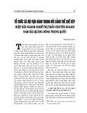 """Báo cáo nghiên cứu khoa học """" TỔ CHỨC XÃ HỘI VẬN HÀNH TRONG BỐI CẢNH THỂ CHẾ KÉP HIỆP HỘI NGÀNH NGHỀ THỊ TRẤN CHUYÊN DOANH NAM HẢI QUẢNG ĐÔNG TRUNG QUỐC"""
