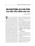 """Báo cáo nghiên cứu khoa học """" HÀNH LANG KINH TẾ CÔN MINH - LÀO CAI - HÀ NỘI - HẢI PHÒNG VAI TRÒ CỦA TỈNH LÀO CAI """""""