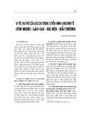 """Báo cáo nghiên cứu khoa học """" VỊ TRÍ, VAI TRÒ LÀO CAI TRONG TUYẾN HÀNH LANG KINH TẾ CÔN MINH - LÀO CAI - HÀ NỘI - HẢI PHÒNG """""""