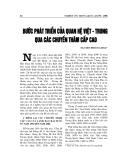 """Báo cáo nghiên cứu khoa học """" BƯỚC PHÁT TRIỂN CỦA QUAN HỆ VIỆT - TRUNG QUA CÁC CHUYẾN THĂM CẤP CAO """""""