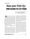 """Báo cáo nghiên cứu khoa học """" HOẠN QUAN TRIỆU CAO VINH QUANG VÀ CAY ĐẮNG """""""