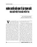 """Báo cáo nghiên cứu khoa học """" NHỮNG CHUYỂN BIẾN KINH TẾ CỦA TRUNG QUỐC VÀO CUỐI THẾ KỶ XIX ĐẦU THẾ KỶ XX """""""