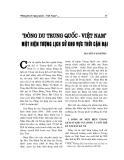 """Báo cáo nghiên cứu khoa học """" Đông Du Trung Quốc - Việt Nam một hiện tượng lịch sử khu vực thời cận đại """""""