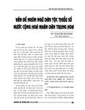 """Báo cáo nghiên cứu khoa học """" Vấn đề ngôn ngữ dân tộc thiểu số nước CHND Trung Hoa  """""""