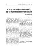 """Báo cáo nghiên cứu khoa học """" BA BÀI HỌC KINH NGHIỆM VỀ CÔNG NGHIỆP HÓA, HIỆN ĐẠI HÓA NÔNG NGHIỆP NÔNG THÔN Ở ĐÀI LOAN """""""