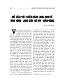 """Báo cáo nghiên cứu khoa học """" MỞ CỬA PHÁT TRIỂN HÀNH LANG KINH TẾ NAM NINH - LẠNG SƠN - HÀ NỘI - HẢI PHÒNG """""""
