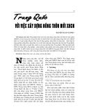 """Báo cáo nghiên cứu khoa học """" TRUNG QUỐC VỚI VIỆC XÂY DỰNG NÔNG THÔN MỚI XHCN """""""