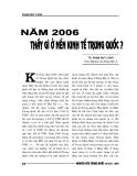 """Báo cáo nghiên cứu khoa học """" NĂM 2006 THẤY GÌ Ở NỀN KINH TẾ TRUNG QUỐC """""""