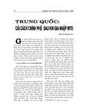 """Báo cáo nghiên cứu khoa học """" TRUNG QUỐC - CẢI CÁCH CHÍNH PHỦ SAU KHI GIA NHẬP WTO """""""