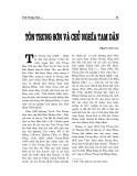 """Báo cáo nghiên cứu khoa học """" Tôn Trung Sơn và chủ nghĩa tam dân """""""