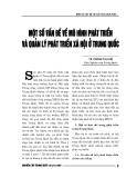 """Báo cáo nghiên cứu khoa học """" MỘT SỐ VẤN ĐỀ MÔ HÌNH PHÁT TRIỂN VÀ QUẢN LÝ PHÁT TRIỂN XÃ HỘI Ở TRUNG QUỐC """""""