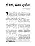 """Báo cáo nghiên cứu khoa học """" Môi trường văn hóa Nguyễn Du """""""