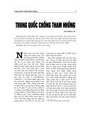 """Báo cáo nghiên cứu khoa học """" Trung Quốc chống tham nhũng """""""