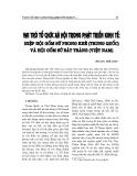 """Báo cáo nghiên cứu khoa học """" Vai trò tổ chức xã hội trong phát triển kinh tế: hiệp hội gốm sứ Phong Khê ( Trung Quốc ) và  Bát Tràng ( Việt Nam ) """""""