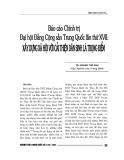 """Báo cáo nghiên cứu khoa học """" Đại hội Đảng Cộng Sản Trung Quốc lần thứ XVII - Xây dựng xã hội với cải thiện dân sinh là trọng điểm """""""