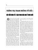 """Báo cáo nghiên cứu khoa học """" Trừng trị tham nhũng từ gốc - Một điểm nóng về lý luận trong năm 2006 ở Trung Quốc """""""