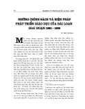 """Báo cáo nghiên cứu khoa học """" Những chính sách và biện pháp phát triển giáo dục của Đài Loan giai đoạn 1980 - 1999  """""""