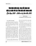 """Báo cáo nghiên cứu khoa học """" Tình huống buôn bán trao đổi hàng hóa giữa Lai Châu với các tỉnh biên giới Trung Quốc gia đoạn 2001 - 2006 và dự báo đến 2010"""