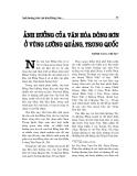 """Báo cáo nghiên cứu khoa học """" Ảnh hưởng của văn hóa Đông Sơn ở vùng Lưỡng Quảng, Trung Quốc """""""