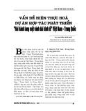 """Báo cáo nghiên cứu khoa học """" Vấn đề hiện thực hóa dự án hợp tác phát triển """" hai hành lang một vành đai kinh tế """" Việt Nam - Trung Quốc """""""