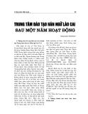 """Báo cáo nghiên cứu khoa học """" Trung tâm Hán ngữ Lào Cai sau một năm hoạt động """""""