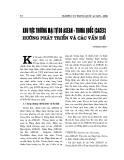 """Báo cáo nghiên cứu khoa học """" Khu vực thương mại tự do ASEAN - Trung Quốc (CACEC) hướng phát triển và các vấn đề """""""