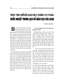 """Báo cáo nghiên cứu khoa học """" Thực thi chế độ giáo dục nghĩa vụ 9 năm – Bước ngoặt trong lịch sử giáo dục Đài Loan """""""