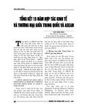 """Báo cáo nghiên cứu khoa học """" TỔNG KẾT 15 NĂM HỢP TÁC KINH TẾ VÀ THƯƠNG MẠI GIỮA TRUNG QUỐC VÀ ASEAN """""""