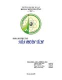 Báo cáo thực tập Hóa phân tích - Trường ĐH Đà Lạt