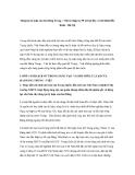 """Báo cáo nghiên cứu khoa học """" Sáng tạo lý luận của hai đảng Trung - Việt từ thập kỷ 90 trở lại đây và mô hình Bắc Kinh - Hà Nội """""""
