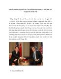"""Báo cáo nghiên cứu khoa học """" Chuyến thăm Trung Quốc của Tổng thống Barack Obama và khởi điểm mới của quan hệ Trung - Mỹ """""""
