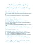 Tiêu chuẩn xây dựng Việt Nam gồm 11 tập