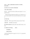 TiBài 8. SỰ BIẾN ĐỔI TUẦN HOÀN CẤU HÌNH ELECTRON NGUYÊN TỬ CÁC NGUYÊN TỐ HOÁ HỌC
