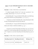 Tiết 19 : CÁC QUÁ TRÌNH BIẾN ĐỔI TRẠNG THÁI CỦA MỘT KHỐI KHÍ