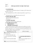 Tiết 1 – 2 :TỔNG QUAN NỀN VĂN HỌC VIỆT NAM