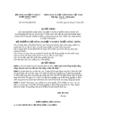 Quyết định số 38/2005/QĐ-BNN