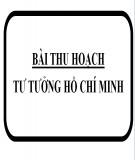 Bài thu hoạch về tư tưởng Hồ Chí Minh