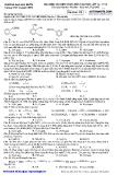 Đề thi môn hóa học lớp 12 trường KHTN