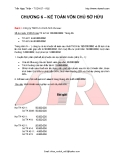 Chương 6: Kế toán vốn chủ sở hữu
