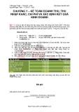 Chương 7: Kế toán doanh thu, thu nhập khác, chi phí và xác định kết quả kinh doanh