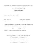 HỘI THI TIN HỌC TRẺ KHÔNG CHUYÊN TOÀN QUỐC LẦN THỨ VI, 2000 Đề thi khối C