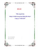 Đề tài: Đẩy mạnh bán hàng cá nhân trong hoạt động tiêu thụ ở Công ty VTKTXM