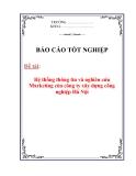 Luận văn: Hệ thống thông tin và nghiên cứu Marketing của công ty xây dựng công nghiệp Hà Nội.