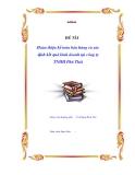 """Luận văn """"Hoàn thiện kế toán bán hàng và xác định kết quả kinh doanh tại công ty TNHH Phú Thái"""""""