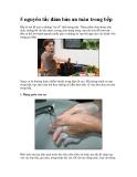 5 nguyên tắc đảm bảo an toàn trong bếp
